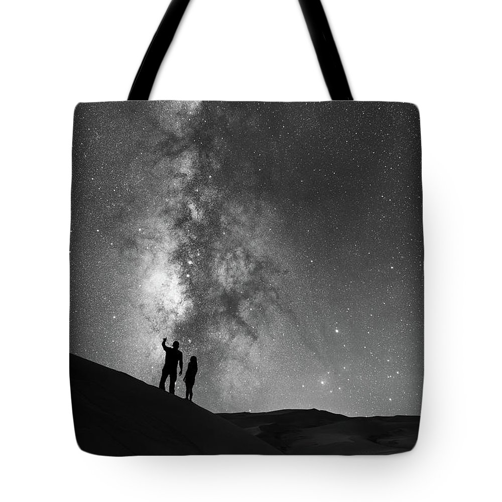 Star Crossed Lovers Tote Bag featuring the photograph Stargazers by Michael Ver Sprill