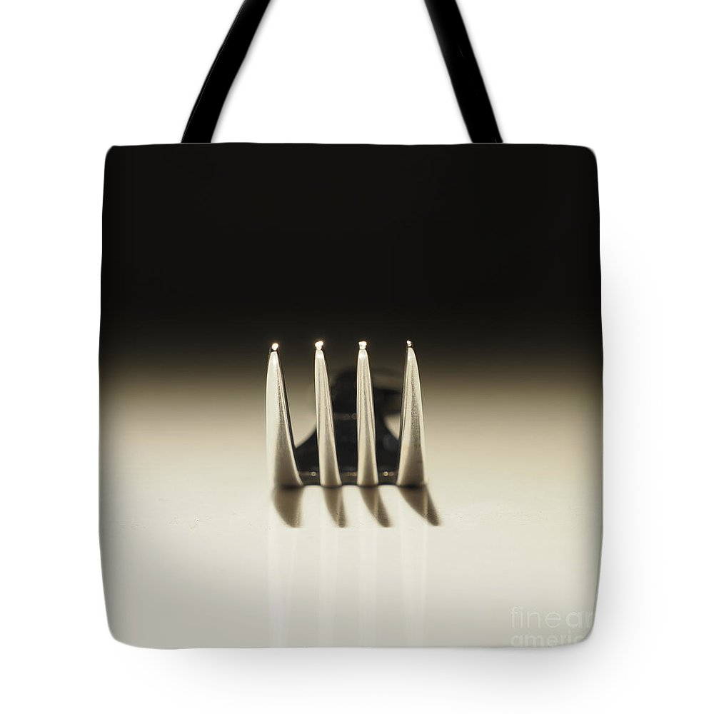 Fork Tote Bag featuring the photograph Steel by Andreas Berheide