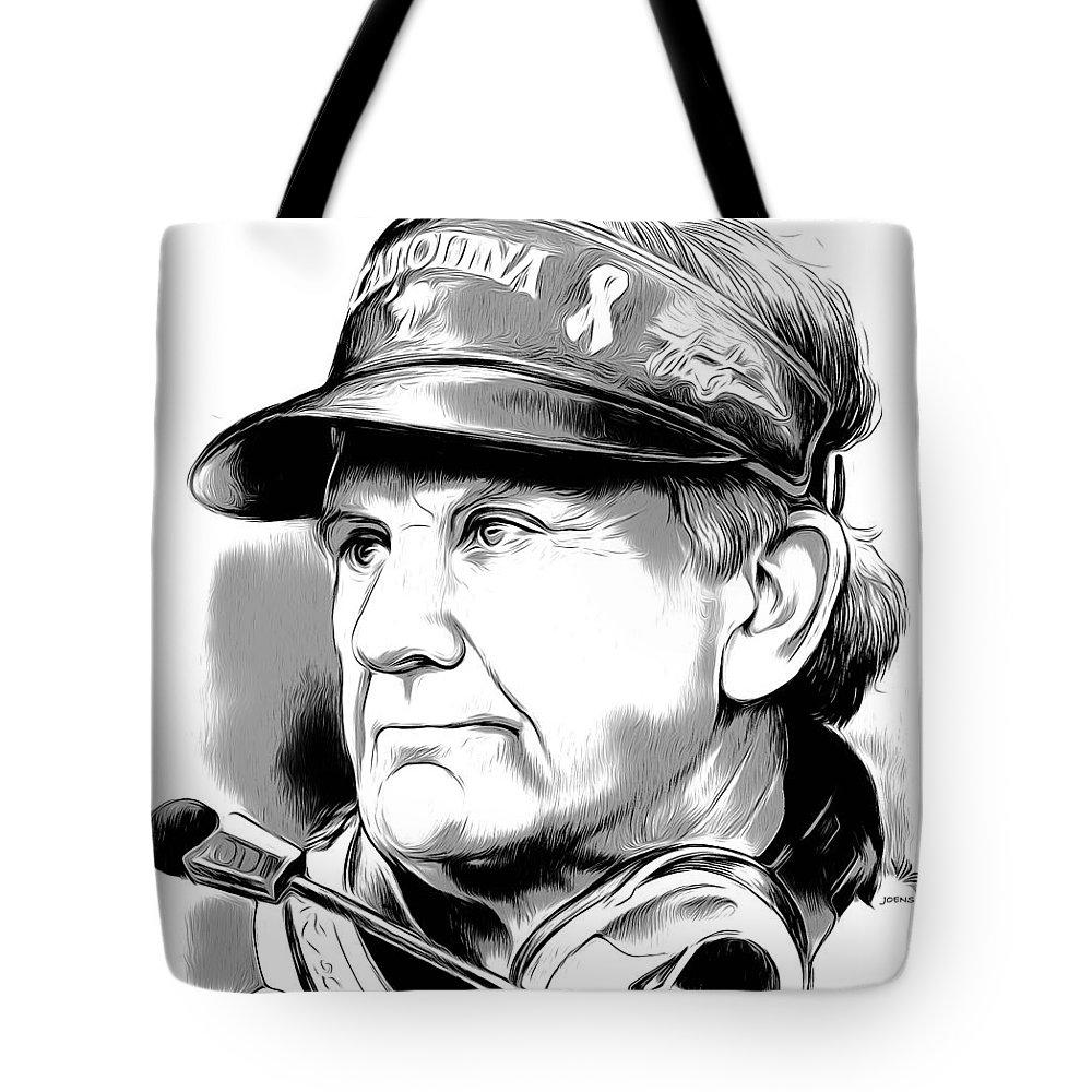Steve Spurrier Tote Bag featuring the digital art Steve Spurrier by Greg Joens