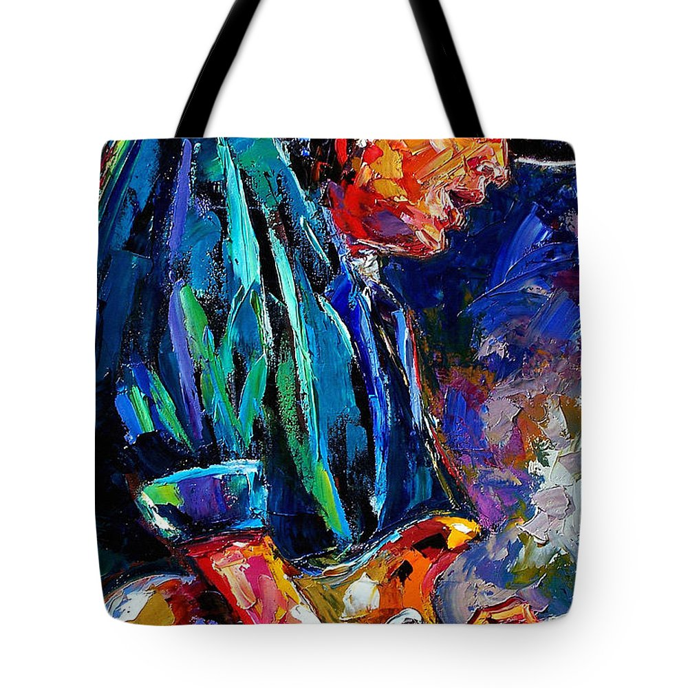 Stevie Ray Vaughan Tote Bag featuring the painting Stevie Ray Vaughan by Debra Hurd