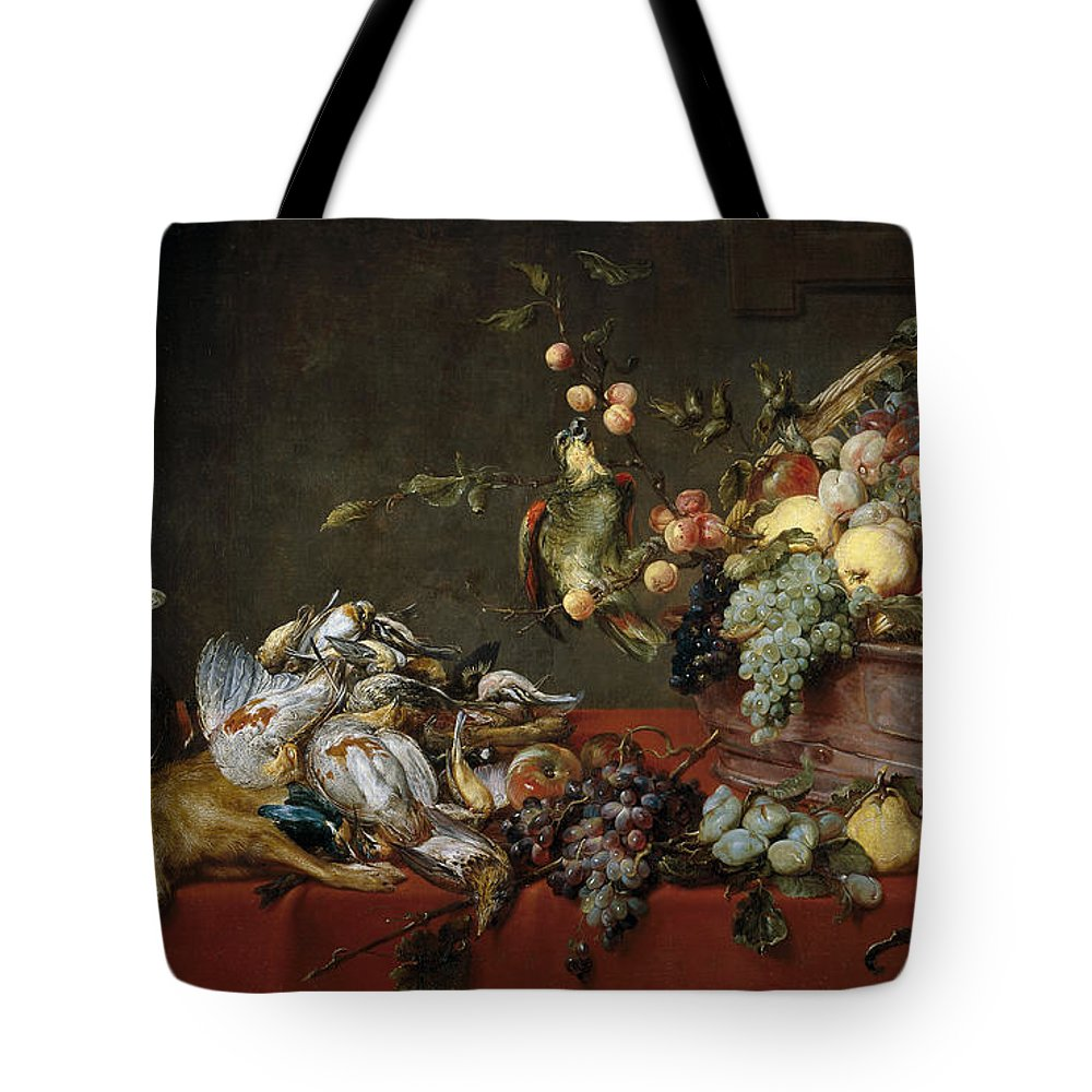 Animal Tote Bag featuring the painting Still Life by Frans Snyders
