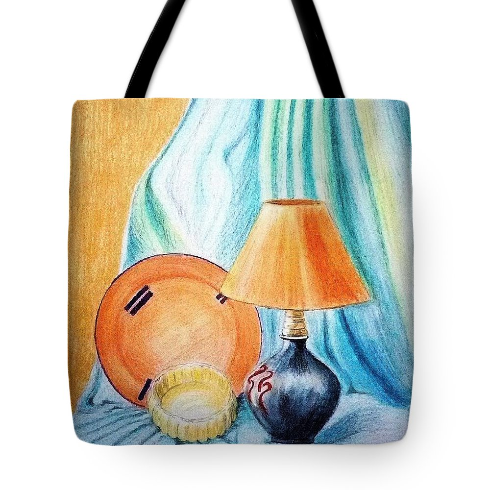 Still Life Tote Bag featuring the painting Still Life by Mohamad Ali