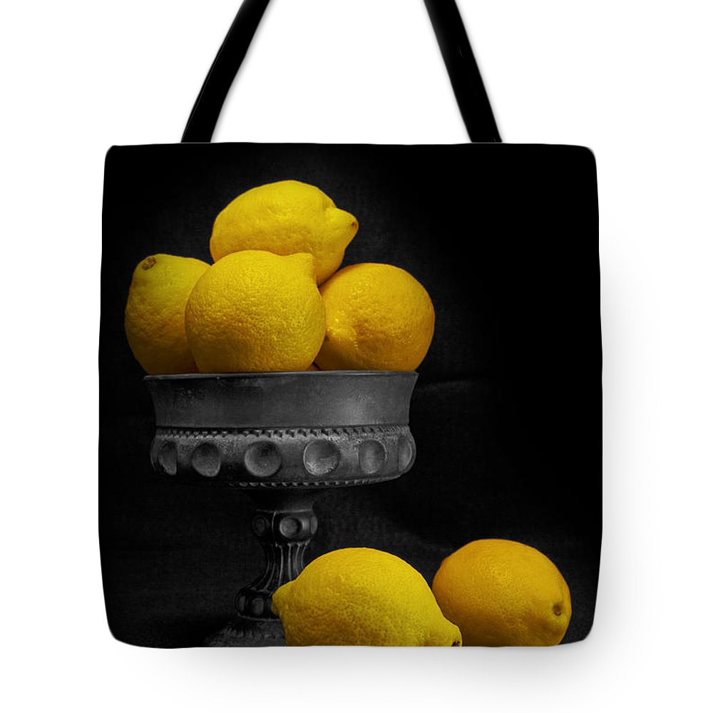 Bowl Tote Bag featuring the photograph Still Life With Lemons by Tom Mc Nemar