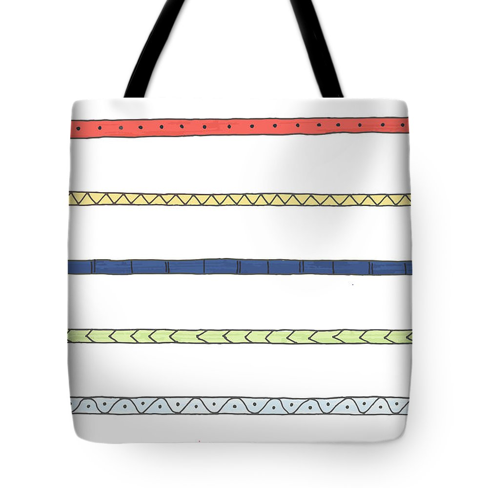 Stripes Tote Bag featuring the drawing Striping by Jill Lenzmeier