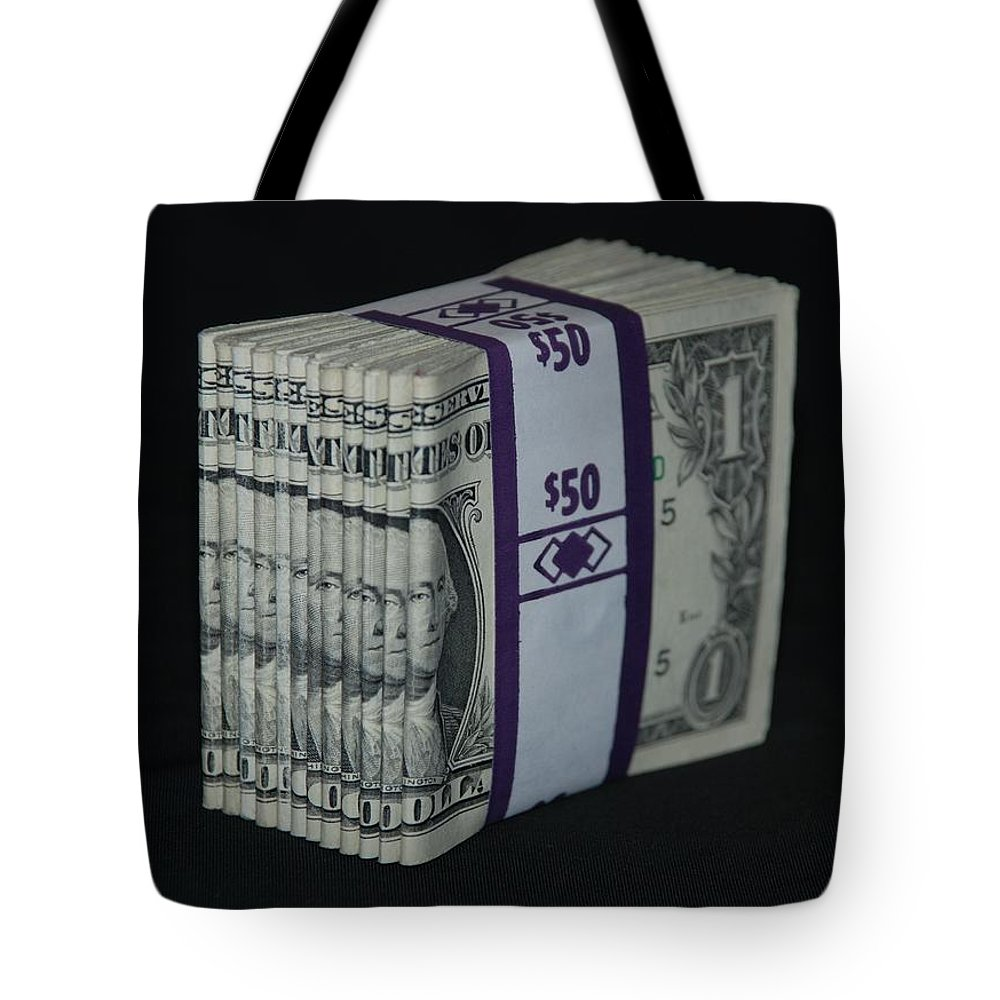 Money Tote Bag featuring the photograph Stripper Stack by Rob Hans