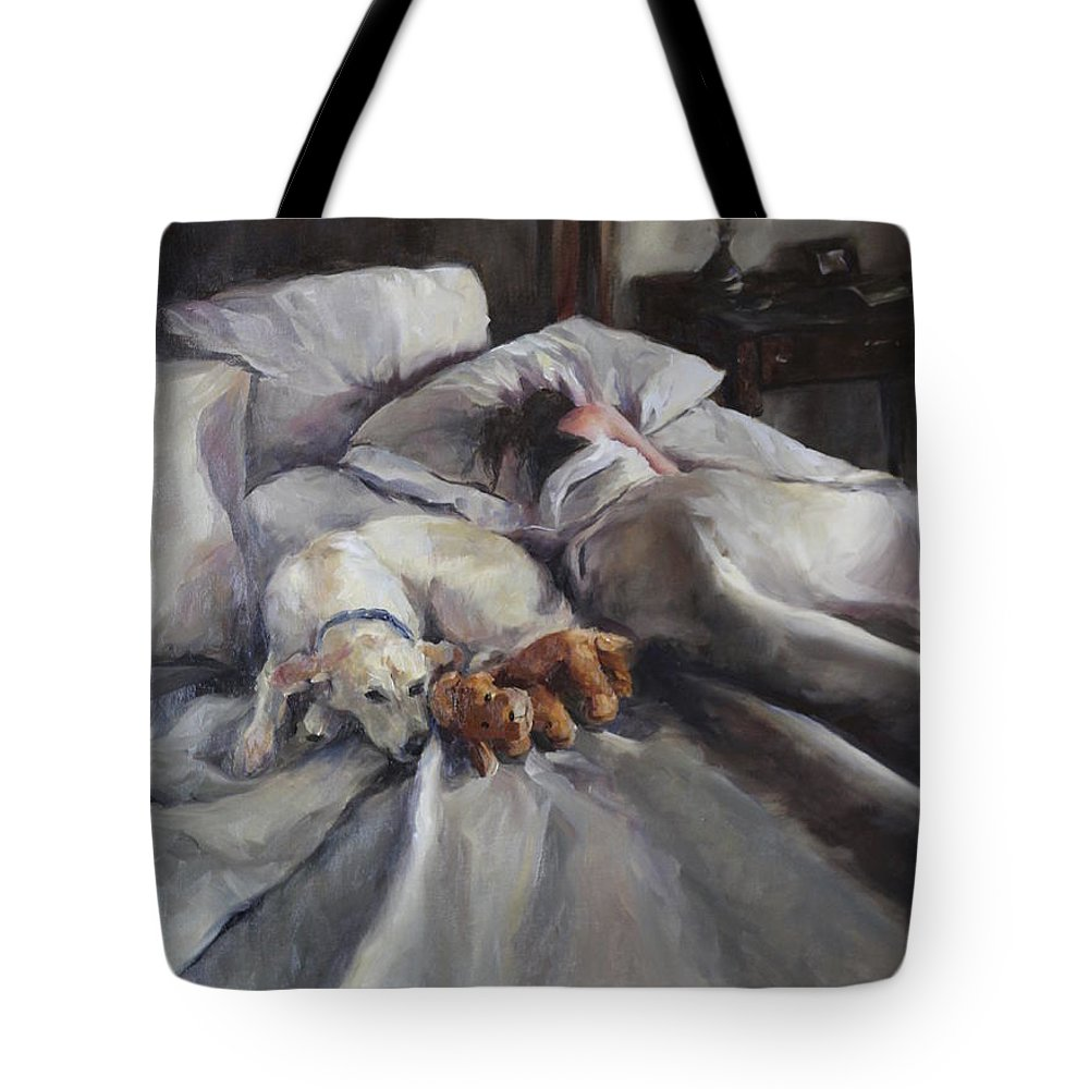 Figurative Tote Bag featuring the painting Stuck In Neutral by Pamela Nichols