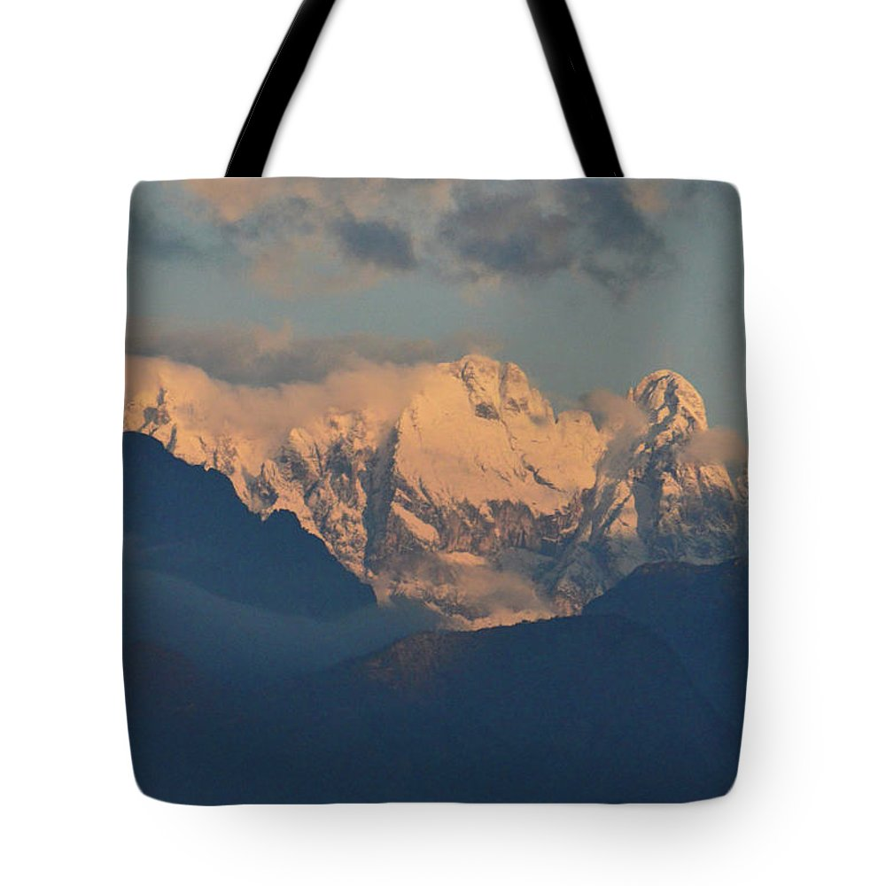 Mountains Tote Bag featuring the photograph Stunning Countryside Of Northern Italy With The Alps by DejaVu Designs