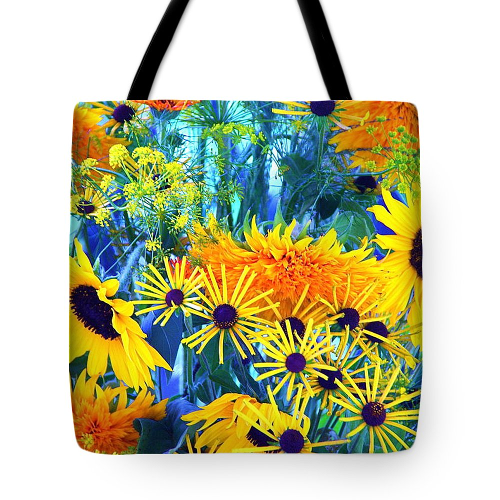 Flowers Tote Bag featuring the photograph Summer Bouquet by Byron Varvarigos