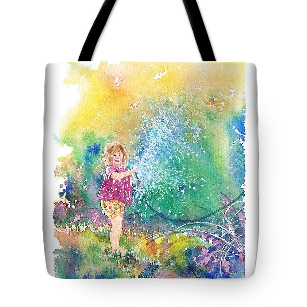 Children Tote Bag featuring the painting Summer Fun by Gale Cochran-Smith