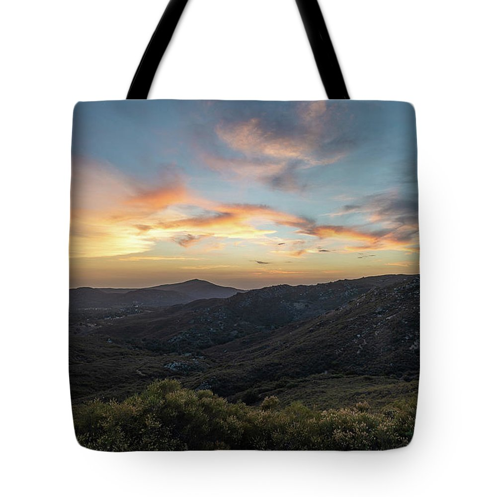 Sunset Tote Bag featuring the photograph Summer Overlook by TM Schultze