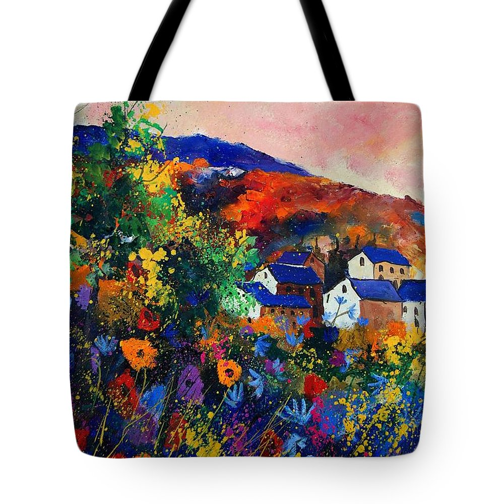Landscape Tote Bag featuring the painting Summer by Pol Ledent
