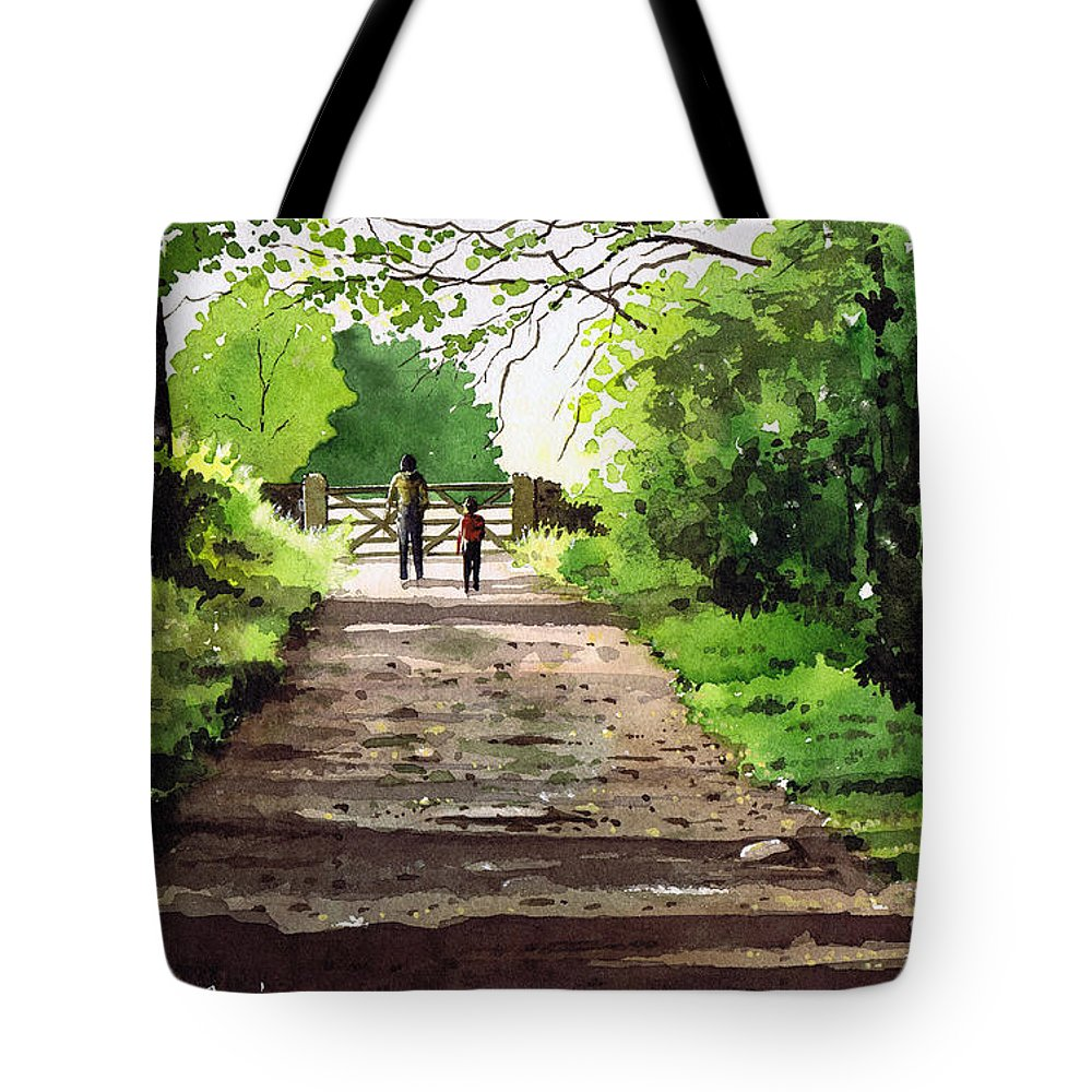 Hardcastle Crags Tote Bag featuring the painting Summers Day Hardcastle Crags. by Paul Dene Marlor