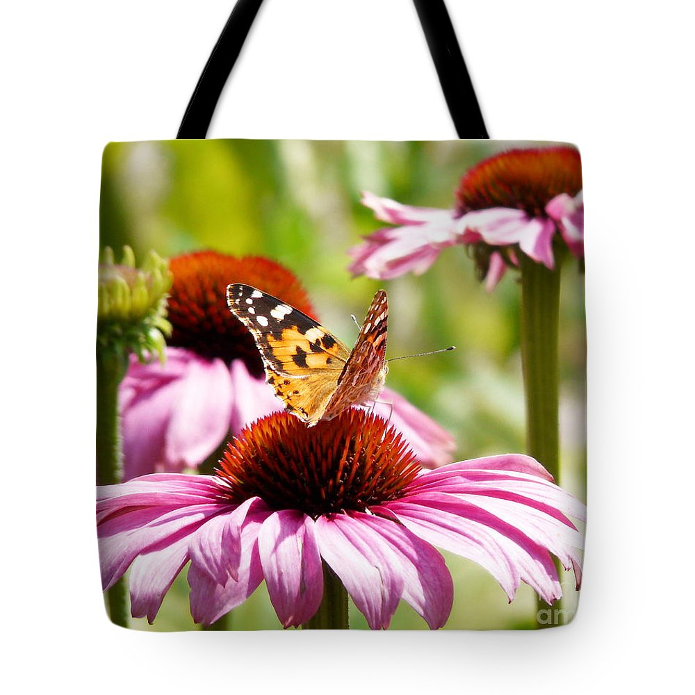Thistle Butterfly Tote Bag featuring the photograph Summertime by Angela Doelling AD DESIGN Photo and PhotoArt