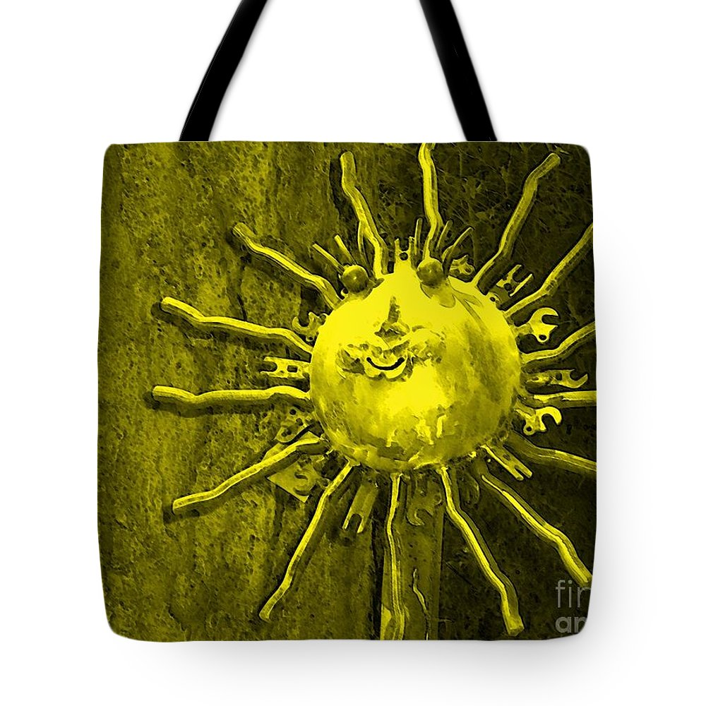 Sun Tote Bag featuring the photograph Sun Tool by Debbi Granruth