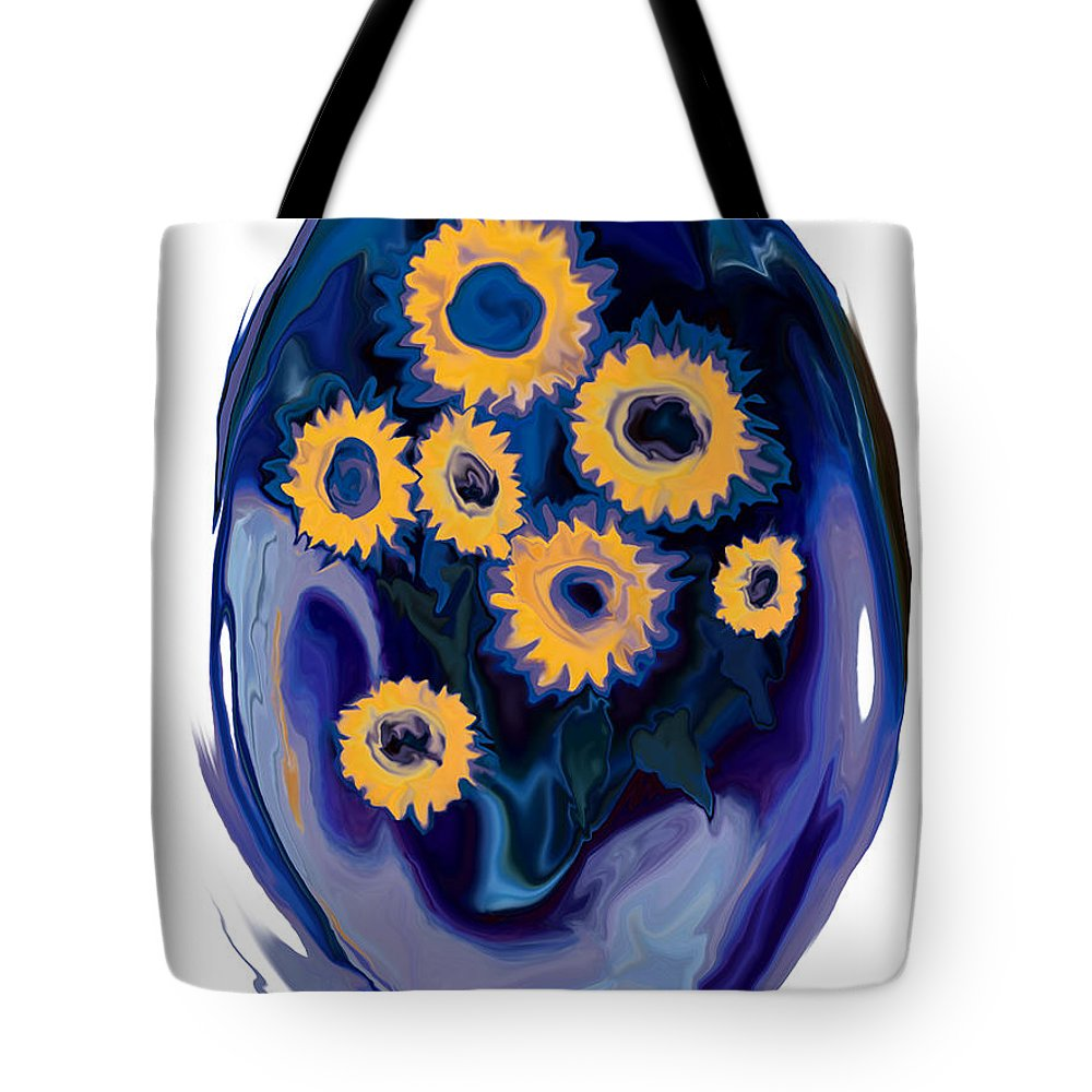 Art Tote Bag featuring the digital art Sunflower 1 by Rabi Khan