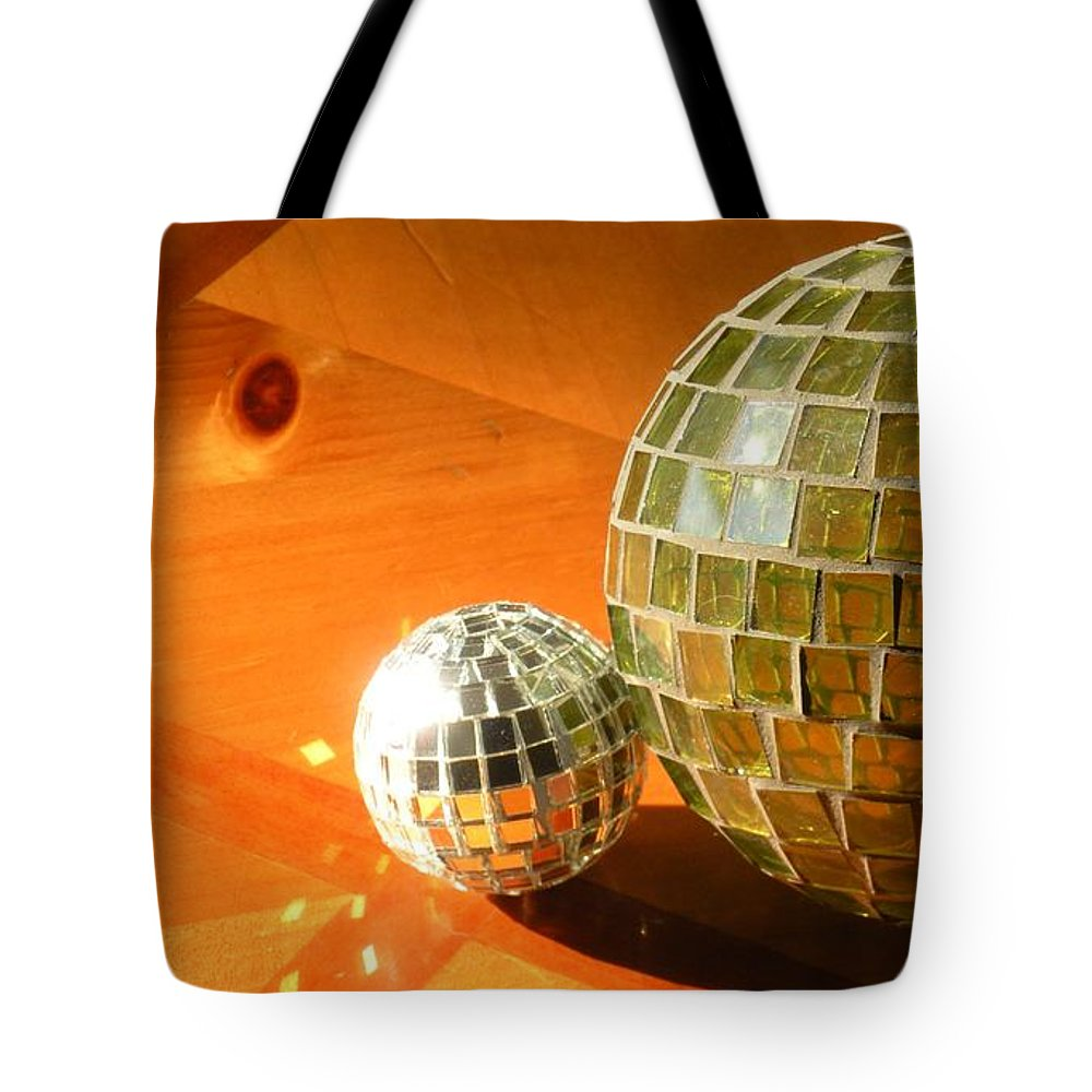 Tote Bag featuring the photograph Sunlit Spheres by Maria Bonnier-Perez