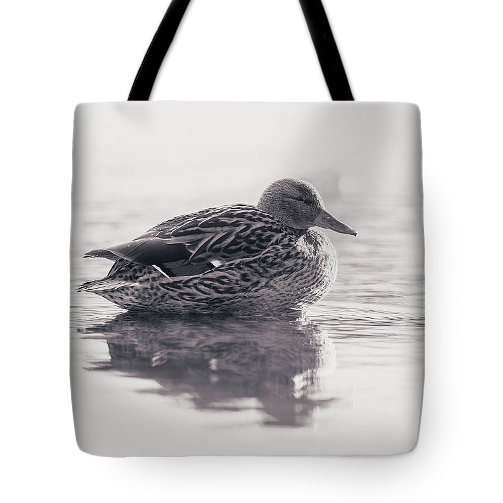 Duck Tote Bag featuring the photograph Sunrise by Annette Bush