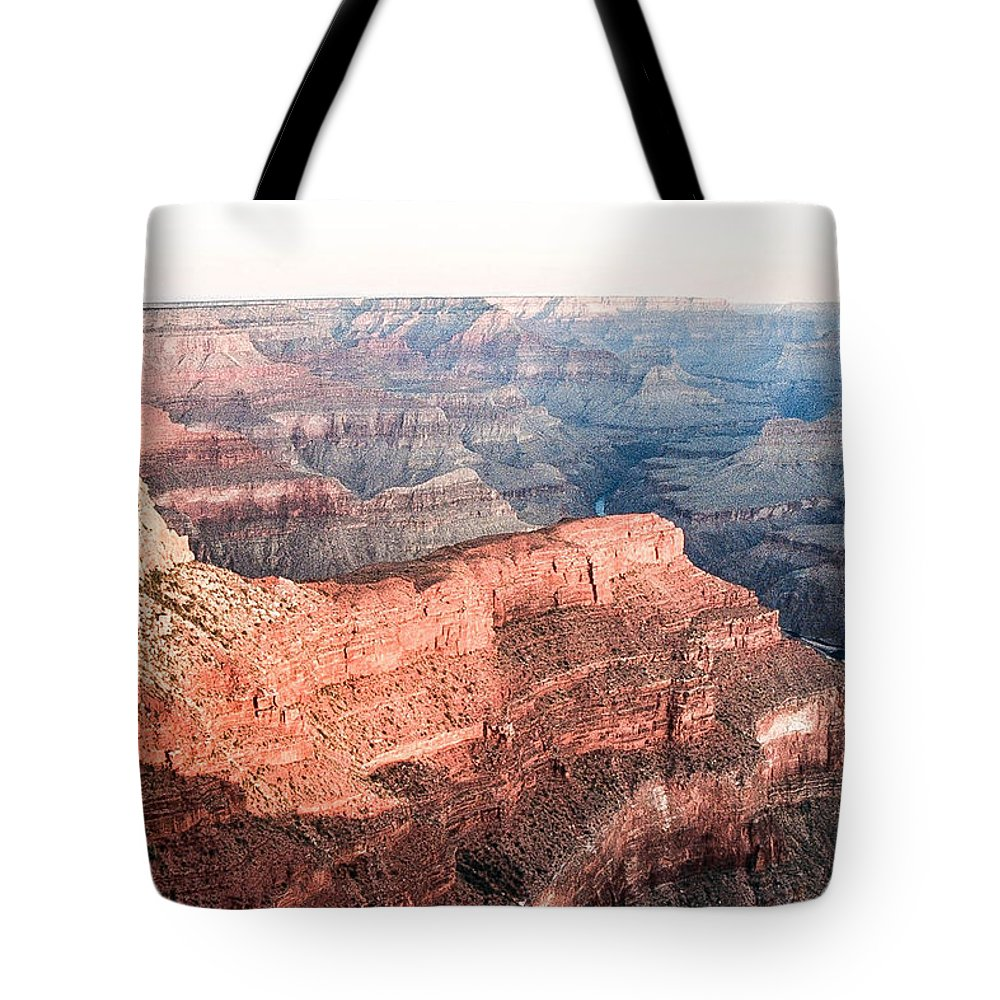 Sunrise Tote Bag featuring the photograph Sunrise At Pima Point by Mike Wheeler