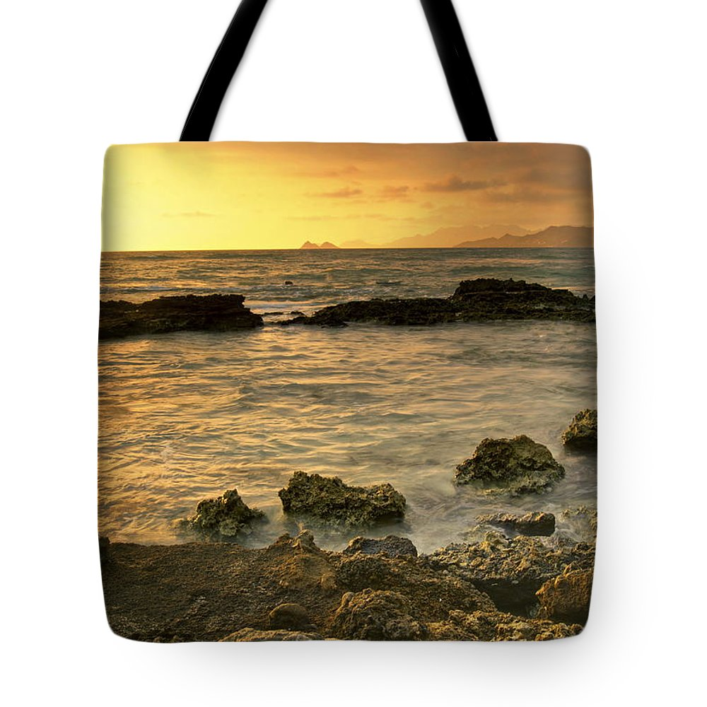 Oahu Tote Bag featuring the photograph Sunrise Kaneohe by Michael Peychich