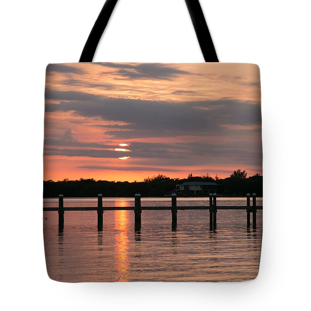 Gulf Of Mexico Tote Bag featuring the photograph Sunset by Gina Munger