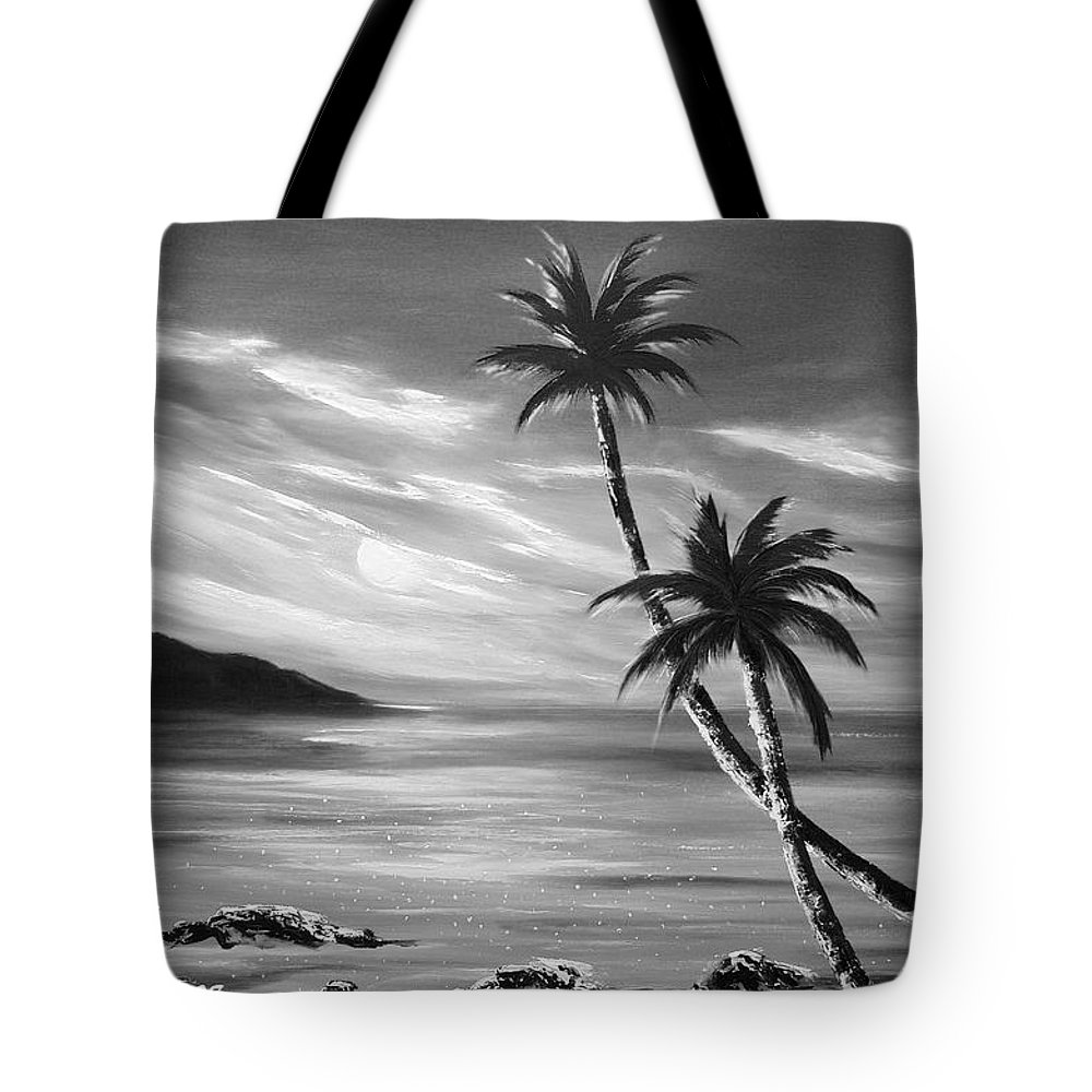 Sunset Tote Bag featuring the painting Sunset In Paradise by Gina De Gorna