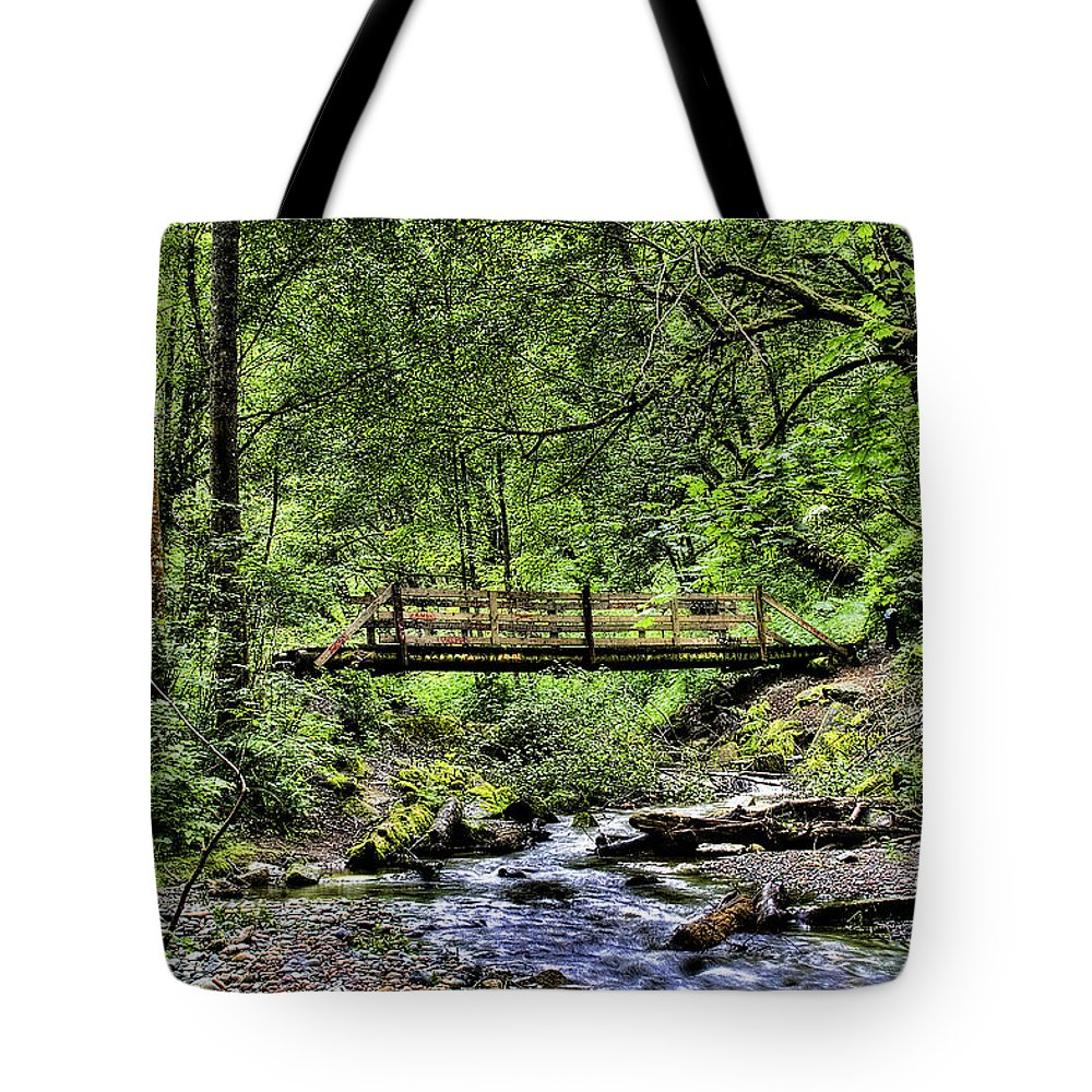 Swan Creek Tote Bag featuring the photograph Swan Creek Park by David Patterson
