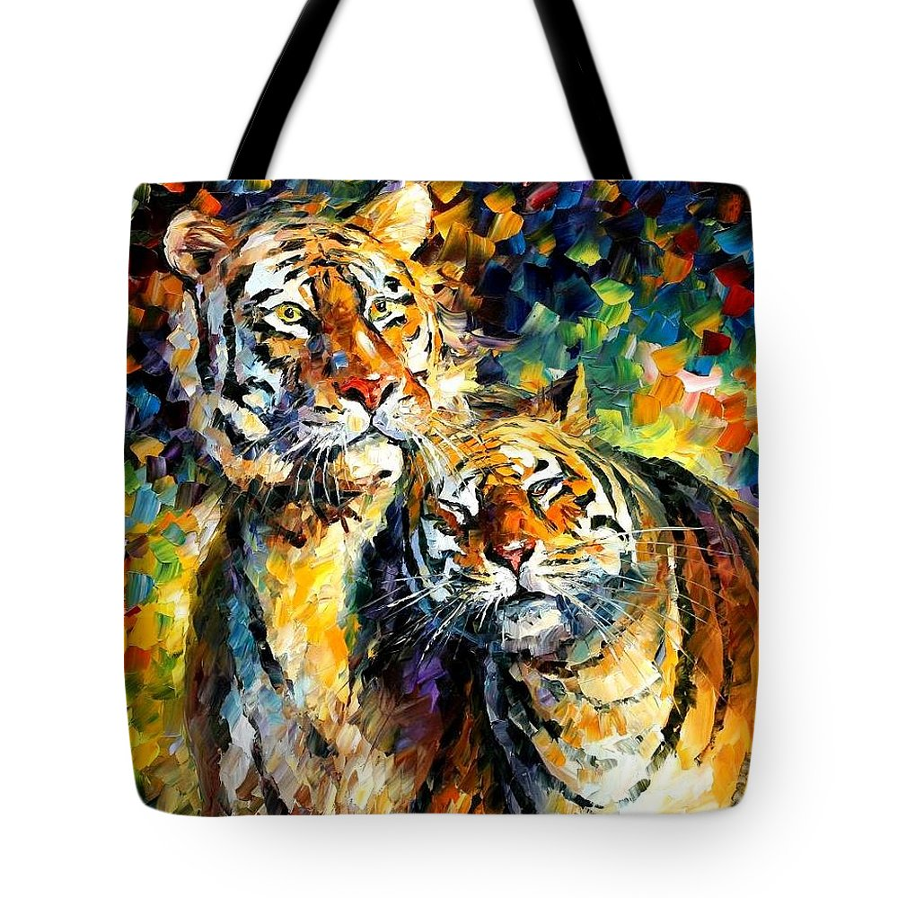 Afremov Tote Bag featuring the painting Sweetness by Leonid Afremov