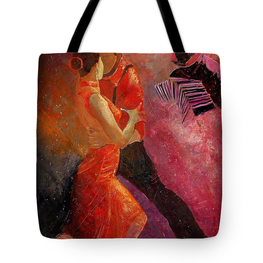 Tango Tote Bag featuring the painting Tango by Pol Ledent