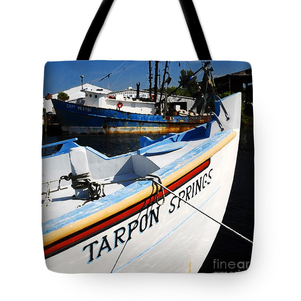 Tarpon Springs Florida Tote Bag featuring the painting Tarpon Springs by David Lee Thompson