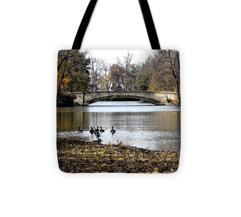 Nature Tote Bag featuring the photograph Tenney Park by Gary Everson