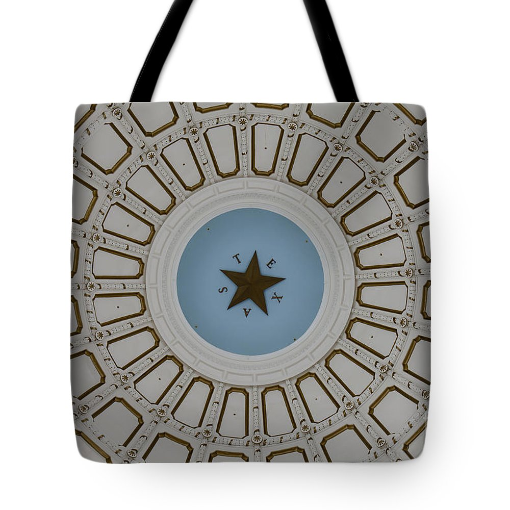 Architecture Tote Bag featuring the photograph Texas State Capitol - Interior Dome by Anthony Totah