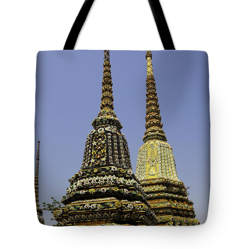 Architecture Tote Bag featuring the photograph Thailand Architecture by Anthony Totah