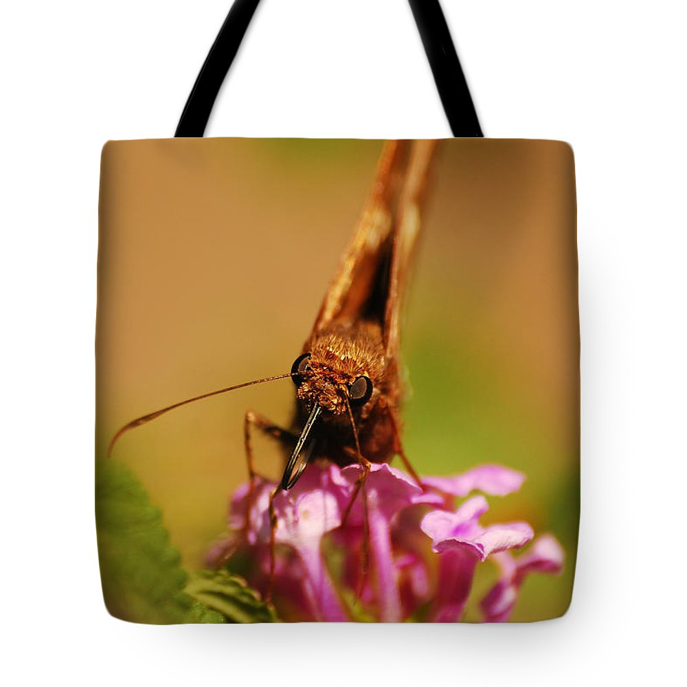 Butterfly Tote Bag featuring the photograph That's Close Enough by Lori Tambakis