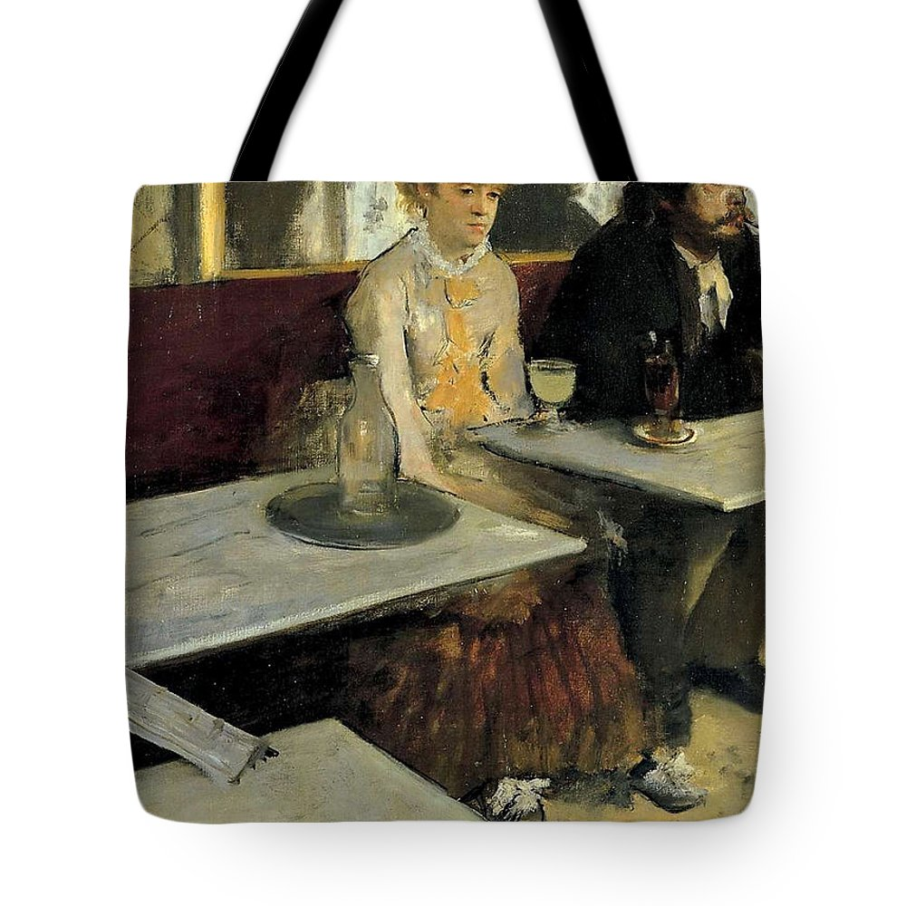 Bar Tote Bag featuring the painting The Absinthe by Edgar Degas