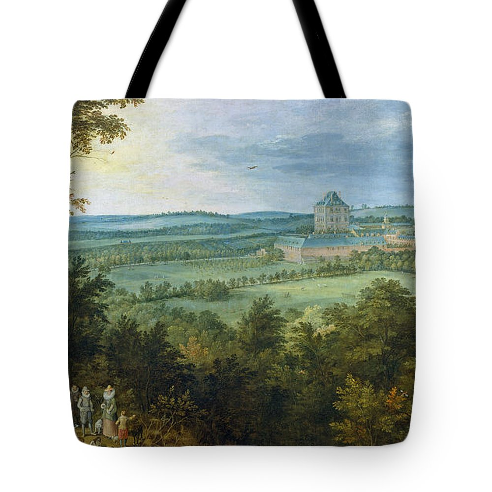 Animal Tote Bag featuring the painting The Archdukes Hunting by Jan Brueghel the Elder