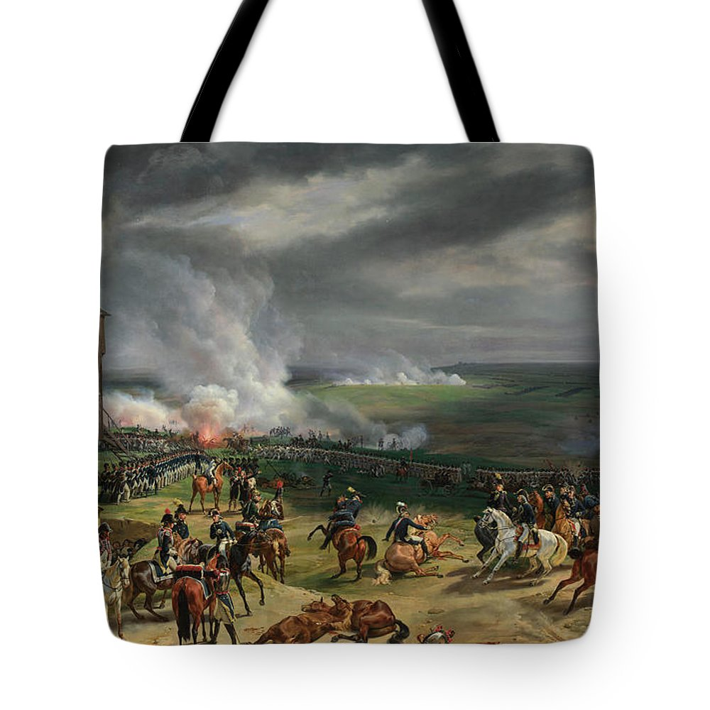 Revolutionary Tote Bag featuring the painting The Battle Of Valmy by Emile-Jean-Horace Vernet