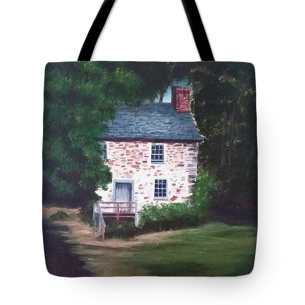 Historical Building Tote Bag featuring the painting The Beehive by Virginia Nickle