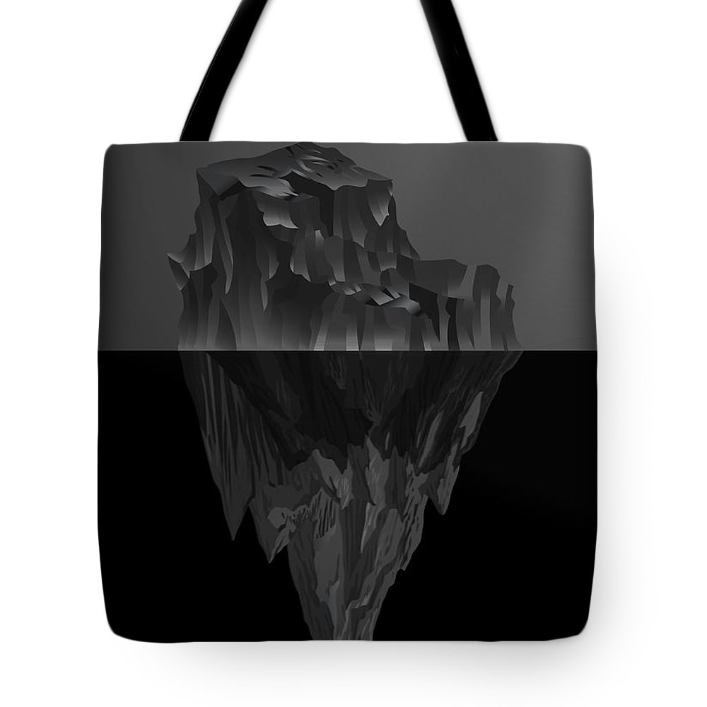 'black On Black' By Serge Averbukh Collection Tote Bag featuring the photograph The Black Iceberg by Serge Averbukh