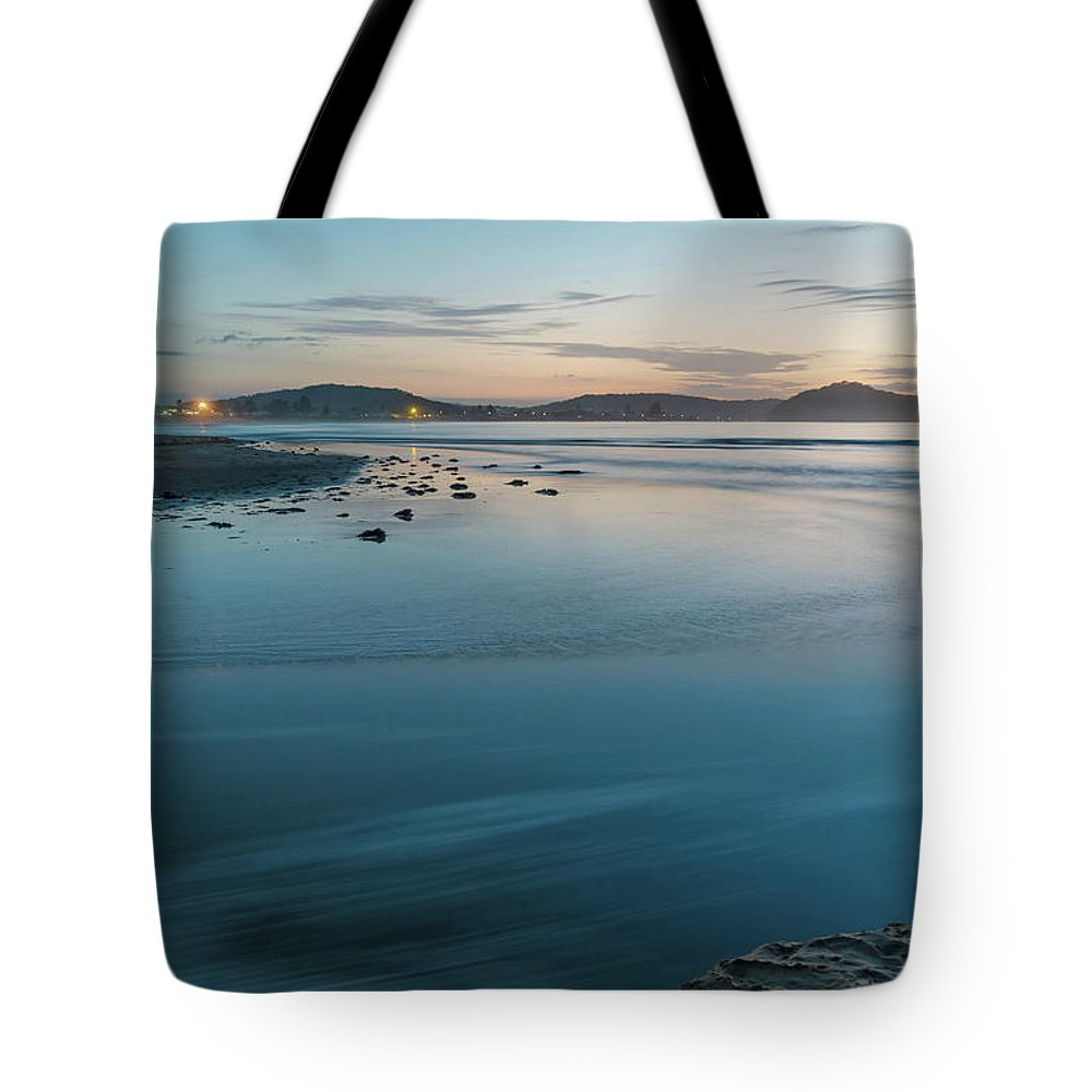 Umina Beach Tote Bag featuring the photograph The Blues - Daybreak Seascape by Merrillie Redden