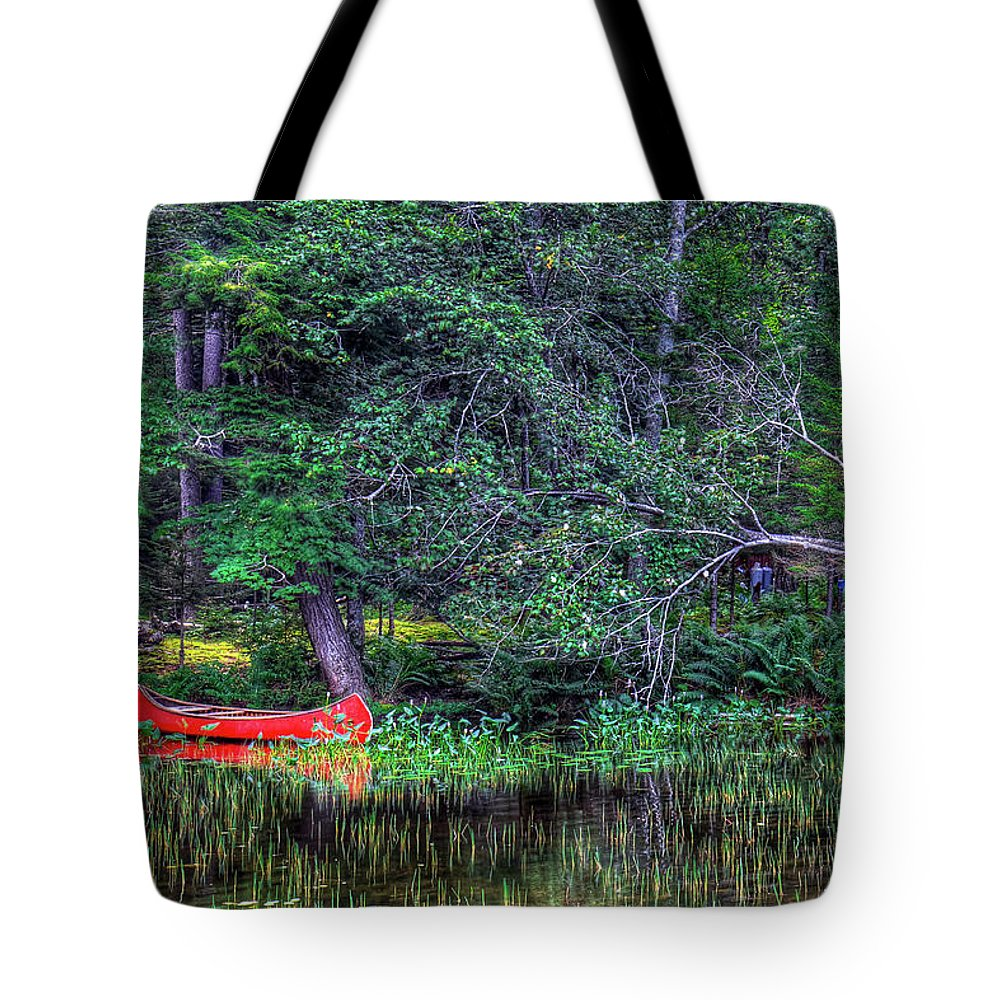 The Canoe Tote Bag featuring the photograph The Canoe by David Patterson