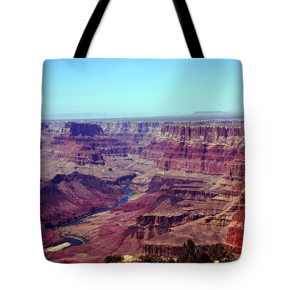 Grand Canyon Tote Bag featuring the photograph The Colorado River by Susanne Van Hulst