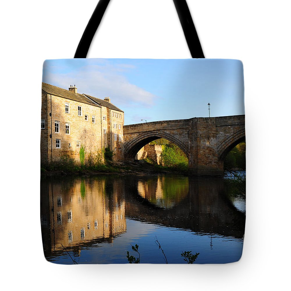 County Bridge Tote Bag featuring the photograph The County Bridge by Smart Aviation