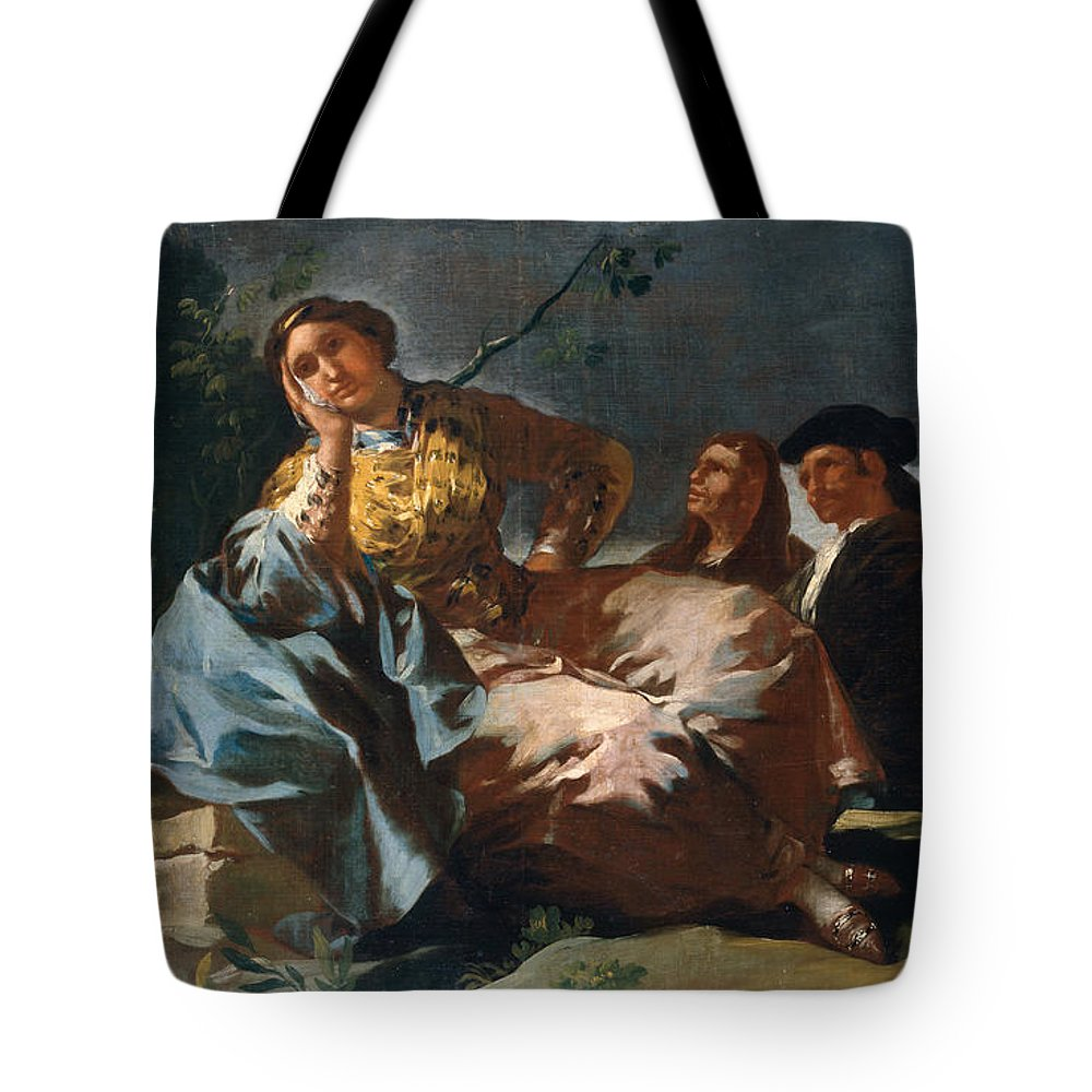 Europe Tote Bag featuring the painting The Date by Francisco Goya