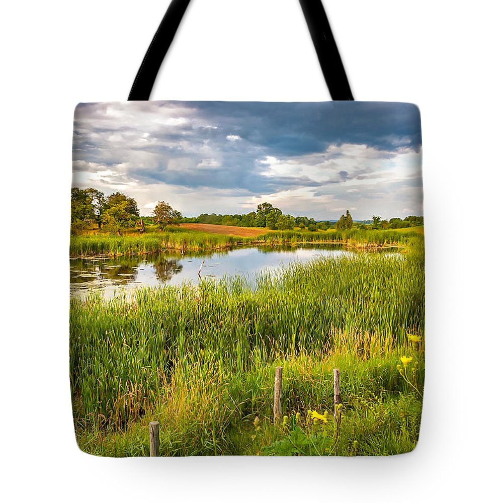 Landscape Tote Bag featuring the photograph The Essence by Steve Harrington