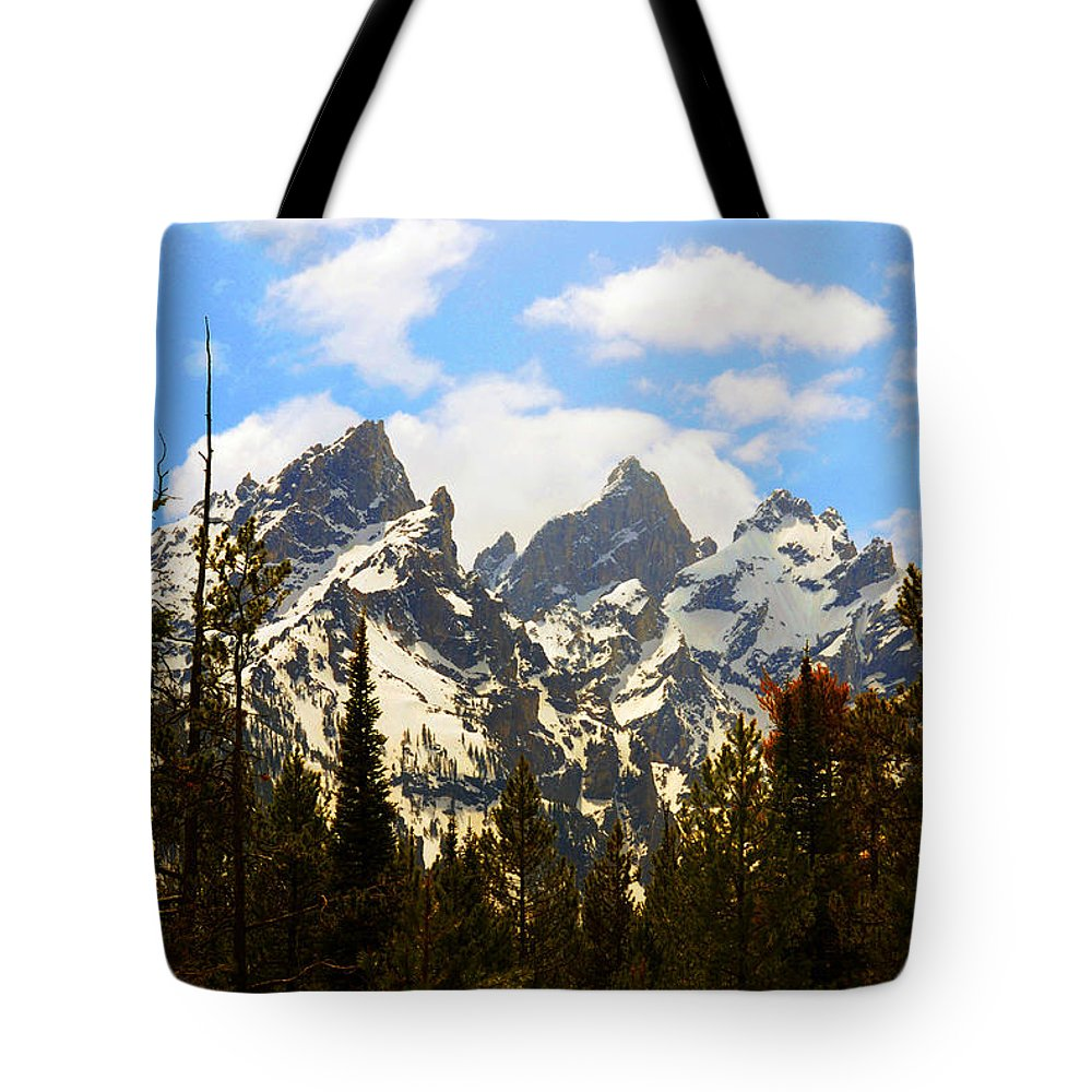 Photography Tote Bag featuring the photograph The Grand Tetons by Susanne Van Hulst