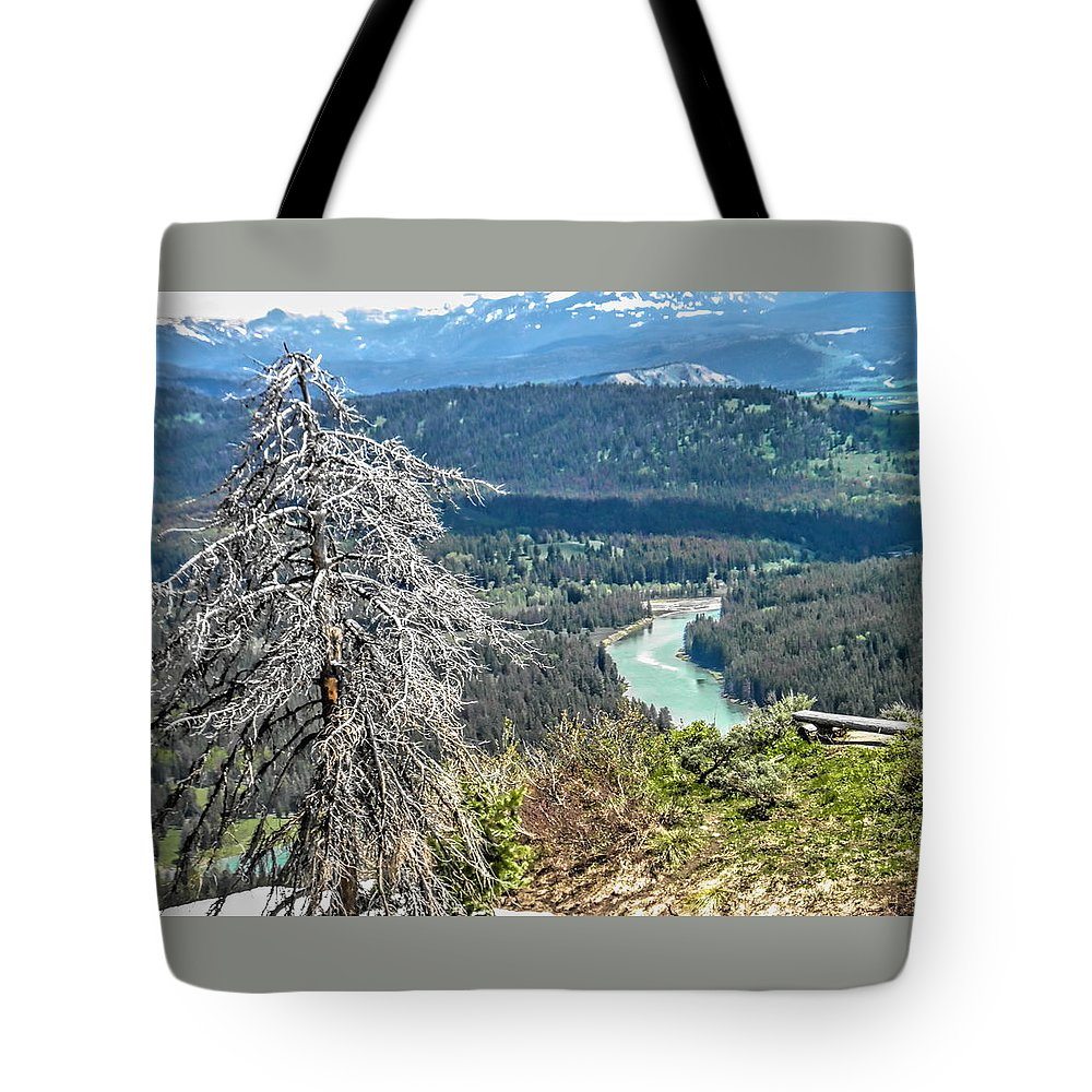 The Grande Tetons Tote Bag featuring the photograph The Grande Tetons by Betsy Cullen