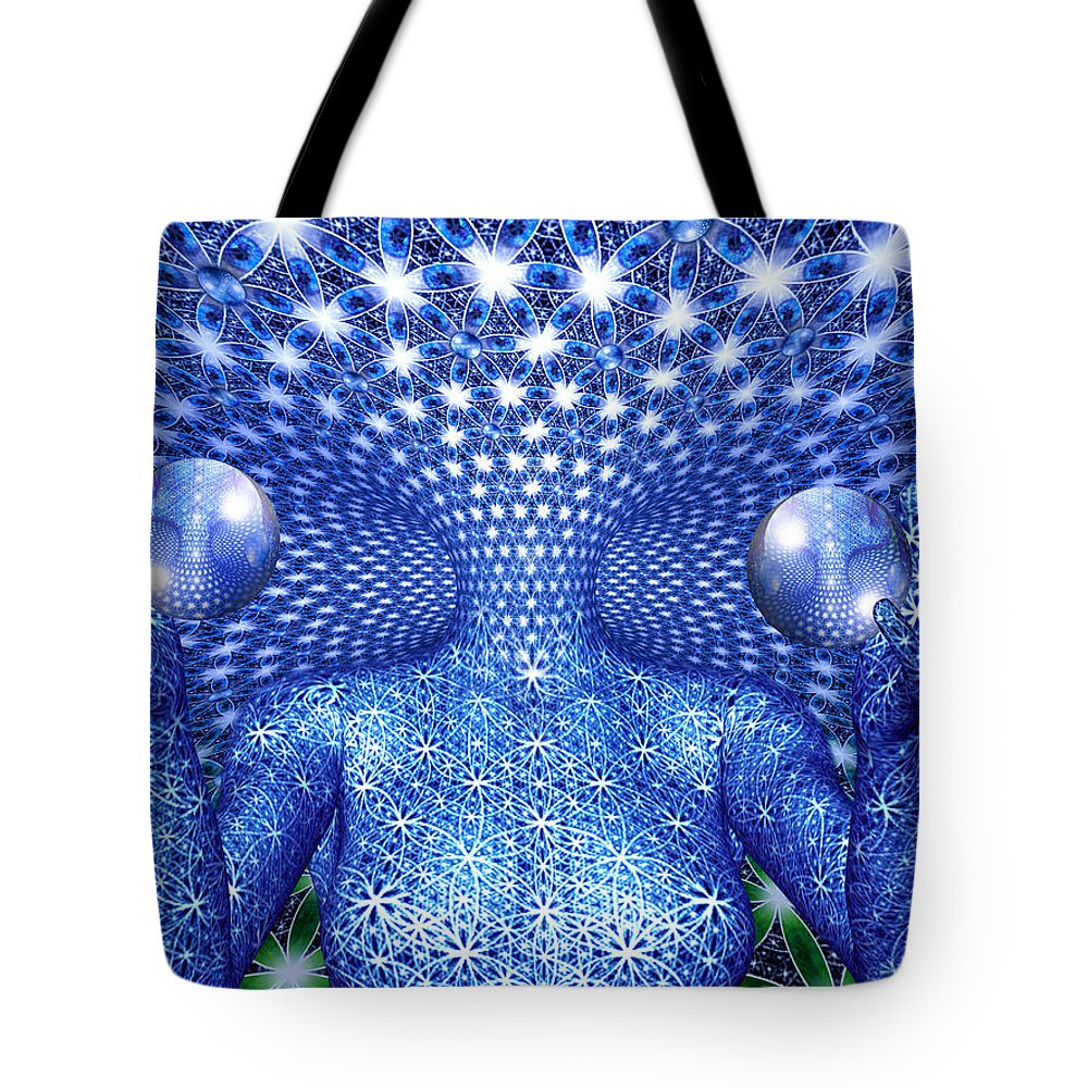 Duality Tote Bag featuring the painting The Invention of Duality by Robby Donaghey