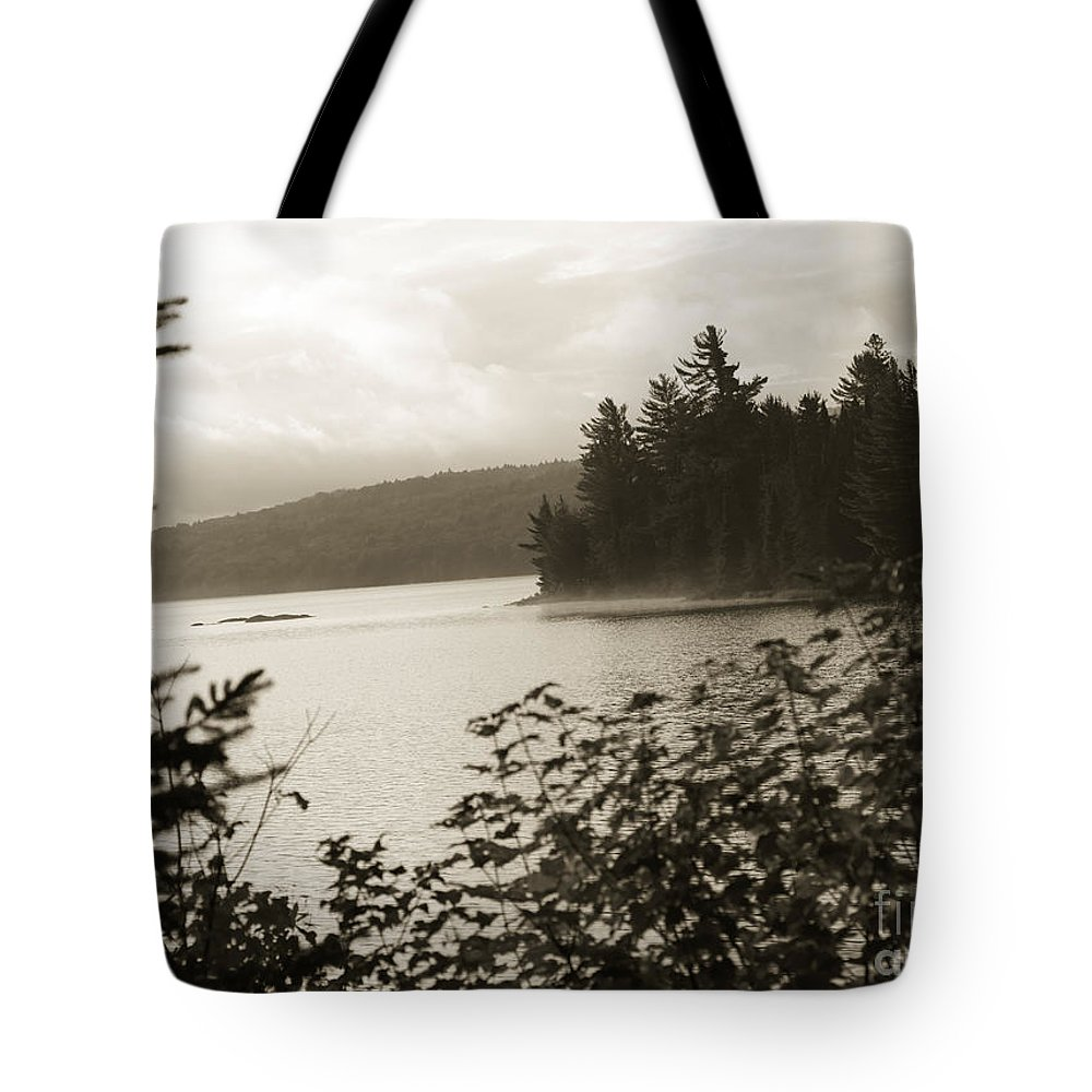 Lake Tote Bag featuring the photograph The Lake Of Two Rivers At Dawn by Oleksiy Maksymenko