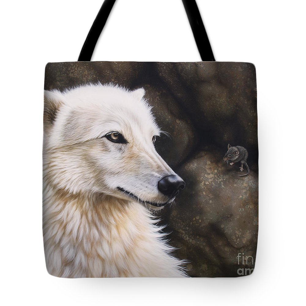 Acrylic Tote Bag featuring the painting The Mouse by Sandi Baker