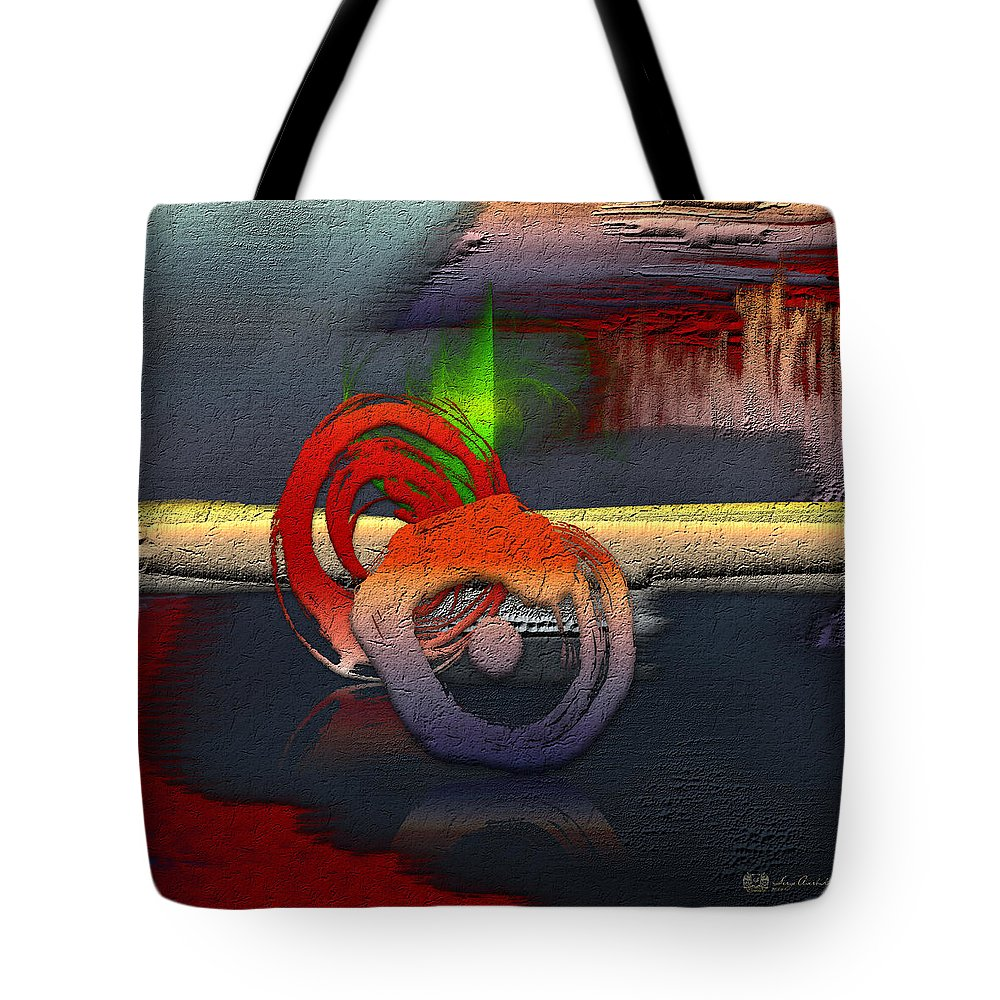 Abstract Oil Tote Bags